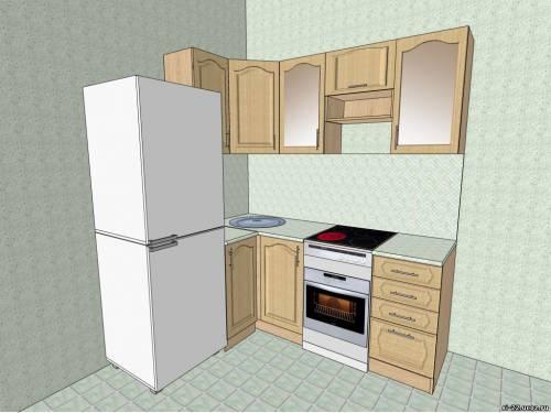 Угловая маленькой кухни своими руками